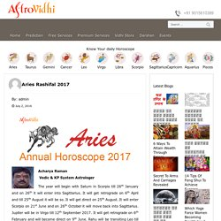 Get Aries Annual Horoscope (Rashifal) 2017