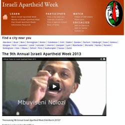 The 8th Annual Israeli Apartheid Week 2012 | Israeli Apartheid Week