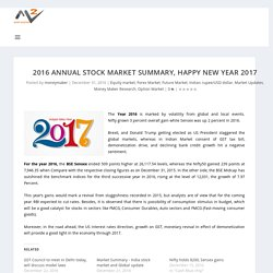 2016 Annual Stock Market Summary, Happy New Year 2017