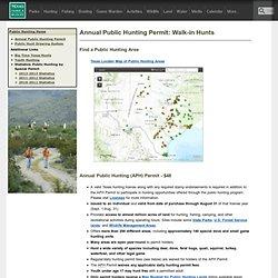 Annual Public Hunting Permit: Walk-in Hunts
