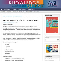 Annual Reports – It's That Time of Year