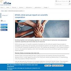 EFSA 18/05/17 EFSA's 2016 annual report on scientific cooperation
