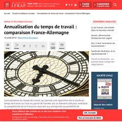Annualisation du temps de travail : comparaison France-Allemagne