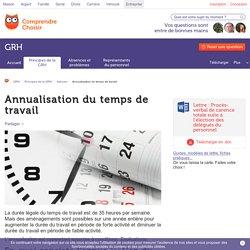 Annualisation du temps de travail : condition et mise en place