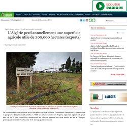 L'Algérie perd annuellement une superficie agricole utile de 300.000 hectares (experts)