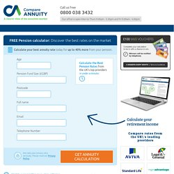 FREE Annuity Calculator: find the Best Market Annuity Rates