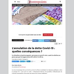 L'annulation de la dette Covid-19 : quelles conséquences