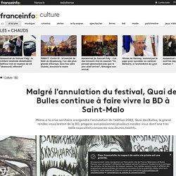 Malgré l'annulation du festival, Quai des Bulles continue à faire vivre la BD à Saint-Malo