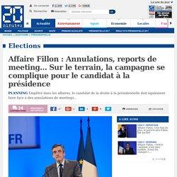 Affaire Fillon: Annulations, reports de meeting… Sur le terrain, la campagne se complique pour le candidat à la présidence