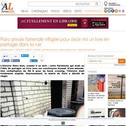 Paris annule l'amende infligée pour avoir mis un livre en partage dans la rue