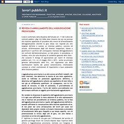 REVOCA O ANNULLAMENTO DELL'AGGIUDICAZIONE PROVVISORIA