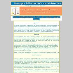 annullamento aggiudicazione - caducazione contratto - giudice competente