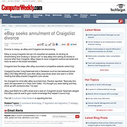 eBay seeks annulment of Craigslist divorce - 11/12/2009 - Comput