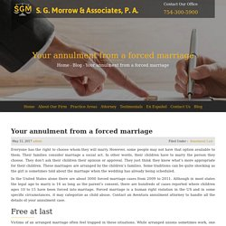 Your annulment from a forced marriage