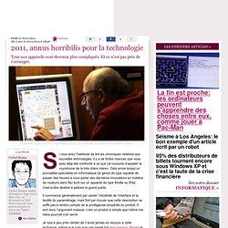 2011, annus horribilis pour la technologie