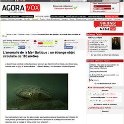 L'anomalie de la Mer Baltique : un étrange objet circulaire de 180 mètres