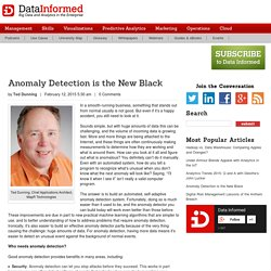 Anomaly Detection is the New Black