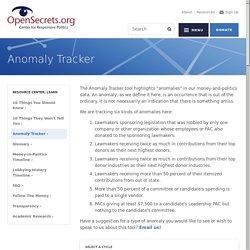 Anomaly Tracker - US Money & Politics