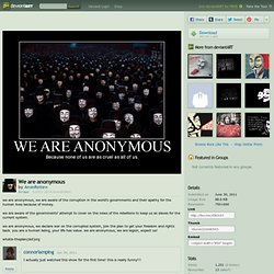 We are anonymous by ~AnonRotten on deviantART