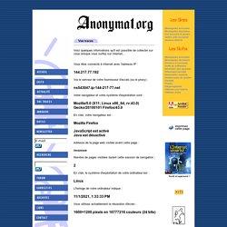 Anonymat.org - Vos traces sur le Net