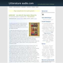ANONYME – Les Mille et Une Nuits (Tome 01)