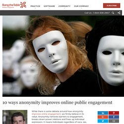 10 Ways of How Anonymity Improves Online Engagement- Bang The Table