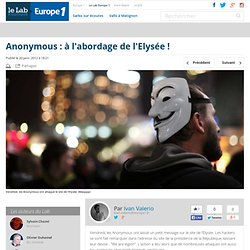 Les Anonymous laissent un message à l'Elysée