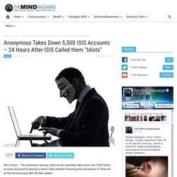 "Anonymous Takes Down 5,500 ISIS Accounts – 24 Hours After ISIS Called them ""I..."