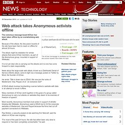 Web attack takes Anonymous activists offline