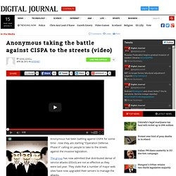 Anonymous taking the battle against CISPA to the streets (video)