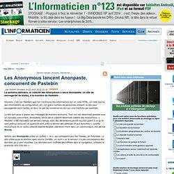 Les Anonymous lancent Anonpaste, concurrent de Pastebin