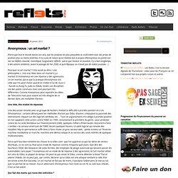 Anonymous : un art martial ?