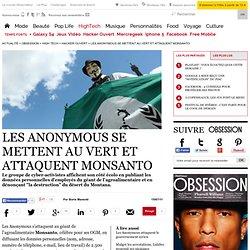 Les Anonymous se mettent au vert et attaquent Monsanto - Hacker ouvert - Le Nouvel Observateur