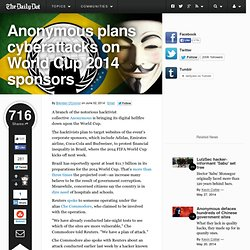 Anonymous plans cyberattacks on World Cup 2014 sponsors