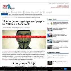 12 Anonymous groups and pages to follow on Facebook