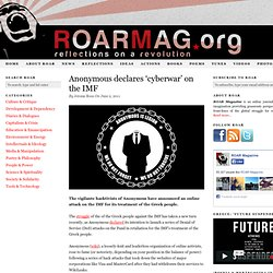 Anonymous declares 'cyberwar' on the IMF