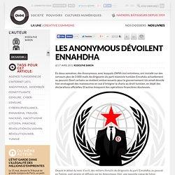 Les Anonymous dévoilent Ennahda