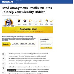 Send Anonymous Emails: 20 Sites To Keep Your Identity Hidden