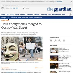 How Anonymous emerged to Occupy Wall Street