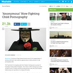 Anonymous Hackers Now Fighting Child Pornography