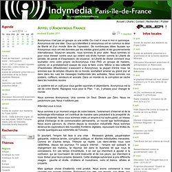 Appel d'Anonymous France