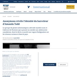Anonymous révèle l'identité du harceleur d'Amanda Todd
