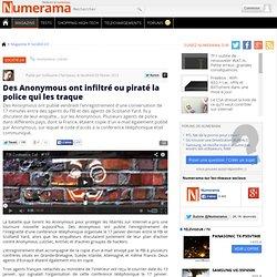 Des Anonymous ont infiltré ou piraté la police qui les traque