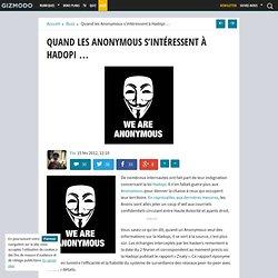 Quand les Anonymous s'intéressent à Hadopi …