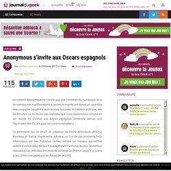 Anonymous s'invite aux Oscars espagnols