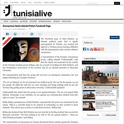 Anonymous Hacks Islamist Party's Facebook Page