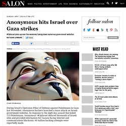 Anonymous hits Israel over Gaza strikes