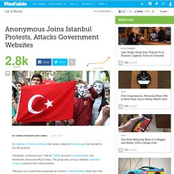 Anonymous Joins Istanbul Protests, Attacks Government Websites