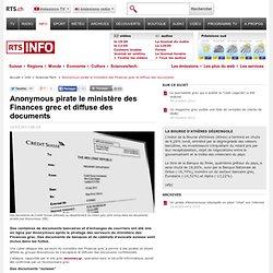 Anonymous pirate le ministère des Finances grec et diffuse des documents - rts.ch - info - sciences-tech.