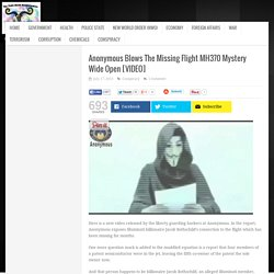 Anonymous Blows The Missing Flight MH370 Mystery Wide Open [VIDEO]